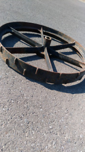 Cast iron tractor wheels