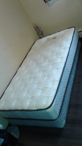 Single mattress and box spring one year