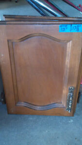 ^^       Set of 9 SOLID WOOD kitchen cabinet doors