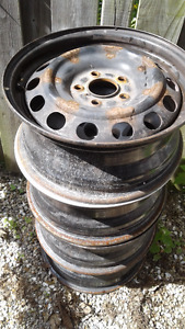 4 steel rims -- selling cheap --moving!!!