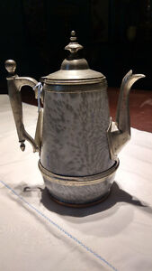 Antique Granite Ware and Pewter Coffee/Tea Pot