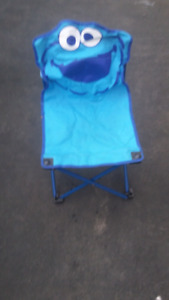 Cookie monster camping chair