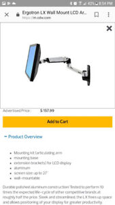 """Mount for screen up to 27"""""""