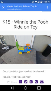 Winnie the Pooh Ride on Toy