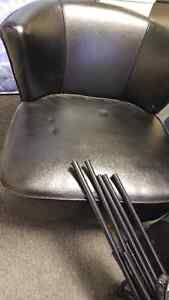 Black Faux Leather Chair Cambridge Kitchener Area image 2