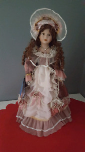 "Porcelain 22"" collectable doll"