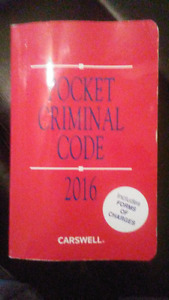 Pocket Criminal Code 2016 Carswelll