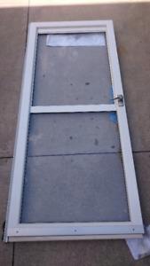 White Aluminum Storm Door with AutoHold door stop and vent