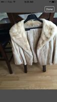 Womens beige mink jacket