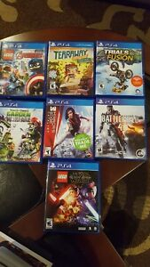 Various Playstion 4 games(used)
