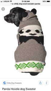 Panda dog sweater