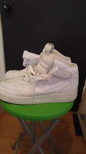 White Nike Air Force 1 Sneakers