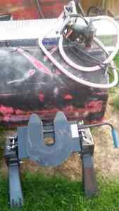 450 liter slip tank with 13 amp fill-rite pump