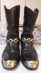 Clothing        Western Boots Black size 9/ 1/2 E - $75