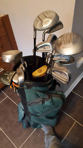 Complete golf set with bag