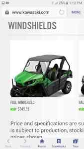 2016 kawasaki teryx Full Windshield FOR SALE