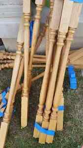 Natural Oak 25 Wooden spindles