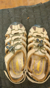Size 1 leather  sandals , swim outfit size 4