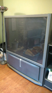 "60"" Sony XBR HD rear projection TV"