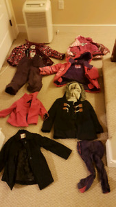 Lot of winter/spring jackets  snow pants kids