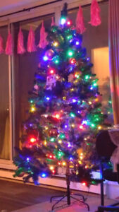 Faux Colour Changing Christmas Tree