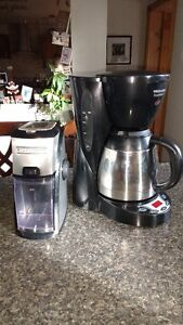Coffee Marker and Grinder and small TV