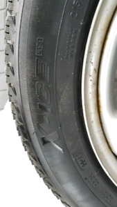 215 55R17 Michelin X-Ice snow tires and rims