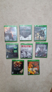 XBOX ONE S GAMES LOT FOR SALE!!