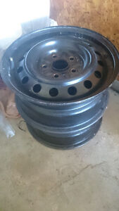 """Four 15"""" steel rims fits Mazda and others"""