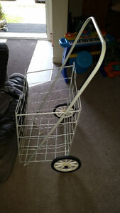FOLDABLE CART WITH WHEELS FOR MANY USES IN GOOD CONDITION ONLY 9