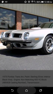 Looking for 1974_1975 Trans am Firebird parts