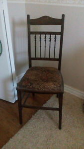 short antique chair. reupholstered. perfect condition