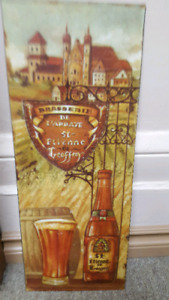 Wall decor - French beer theme