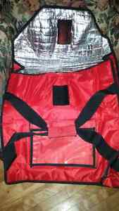 Insulated pizza bag