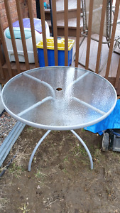 Round patio table - no chairs
