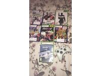 Xbox 360 with Kinect and 7 games