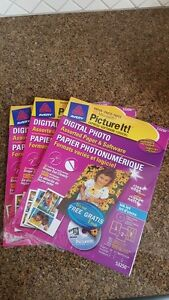 3Pkgs of Avery Digital Photo Paper & Software