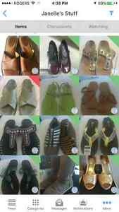 Various size ten shoes