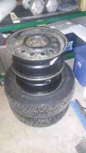 215 70 r16 studed tires with steel rims