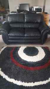 full back real leather love seat like new