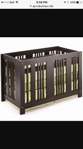 E-Children AP Industries crib that converts to bed