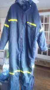 H &H lined coveralls