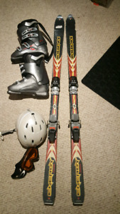Rossignol skis nordica boots and oakley goggles & smith helmet.
