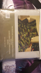 Twin camouflage duvet cover