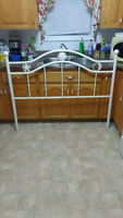 Double steel headboard