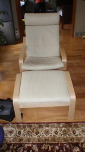 Ikea Poang chair & foot stool