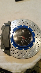 GM Brake and Rotor Clock - Great For Man Cave, Shop, or Garage
