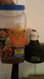 TURTLE FOOD AND HEAT LAMP