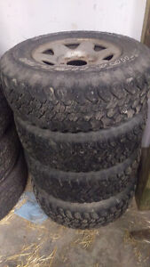 5 SUV/Light Truck A/T Tires with Steel Rims
