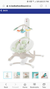 Fisher Price 4 in 1 Musical cradle and swing
